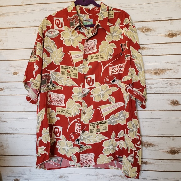 205a1f356 Reyn Spooner Oklahoma football shirt button up. M_5c8db055aaa5b8205de0adee